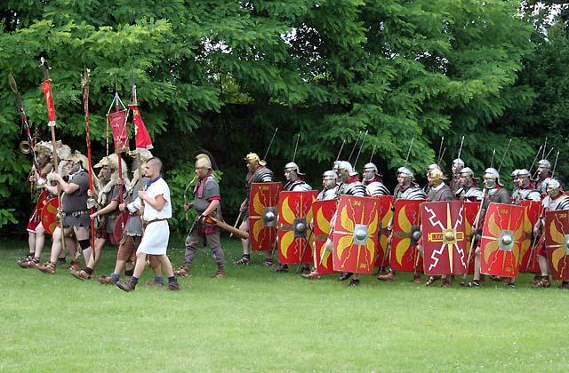 Römerfestival: Römische Kampfeinheit