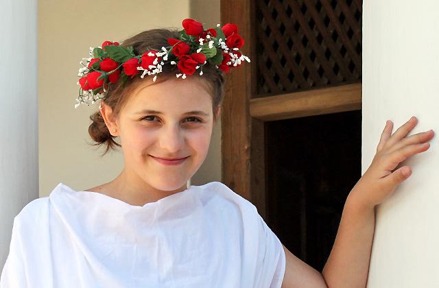 Junge Römerin im Portrait - Römerfestival 2017