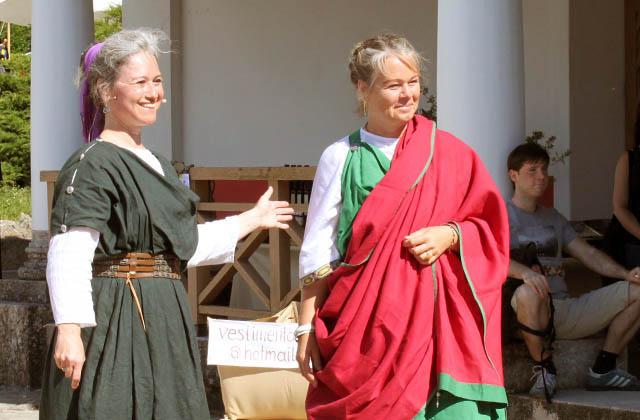 Römische Modenschau in Carnuntum