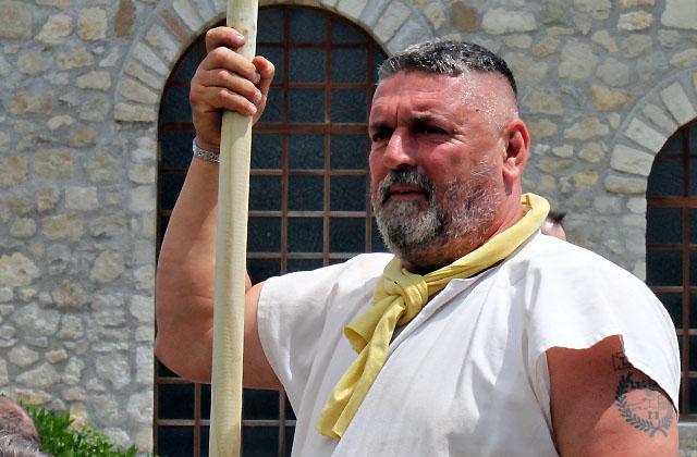 Soldat beim Römerfestival