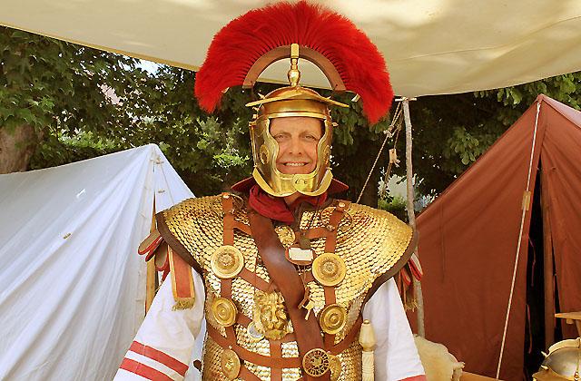 Römerfestival 2017: Prachtvolle Uniform der Legion / Centurio