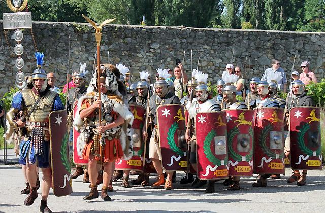Carnuntum - Römerfestival : Parade der Truppen