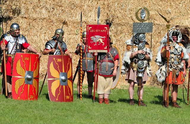 Carnuntum - Römerfestival: Legionäre - Nahaufnahme