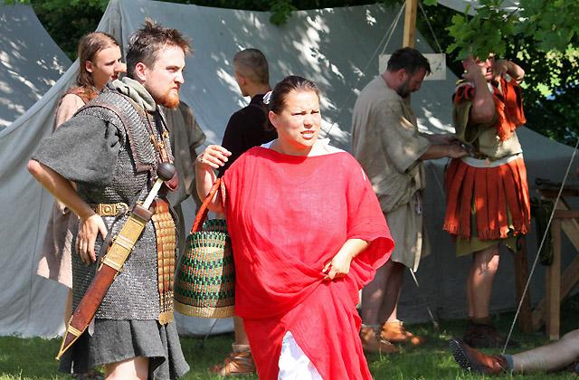 Strassenszene in Carnuntum - Römischer Alltag - Römerfestival