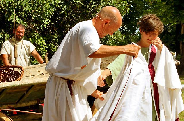 Theaterstück beim Römerfestival, Carnuntum