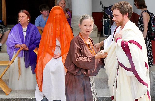 Römische Hochzeit, Vorbereitungen ... Römerfestival - Römerstadt Carnuntum