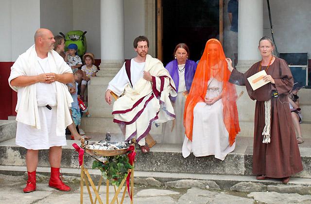 Römische Hochzeit, Vorbereitungen, Brautpaar - Römerfestival