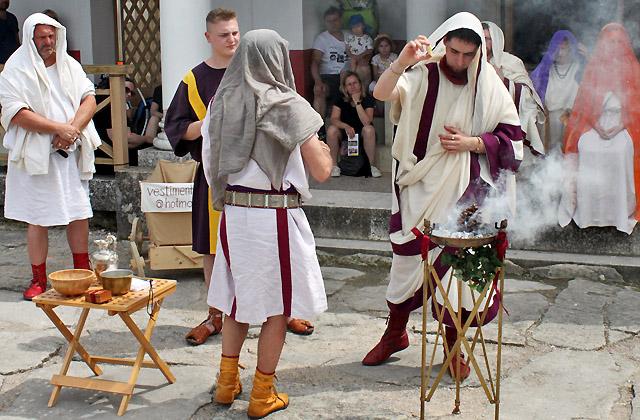 Römische Hochzeit - Pfer für die Götter / Römerfestival 2018