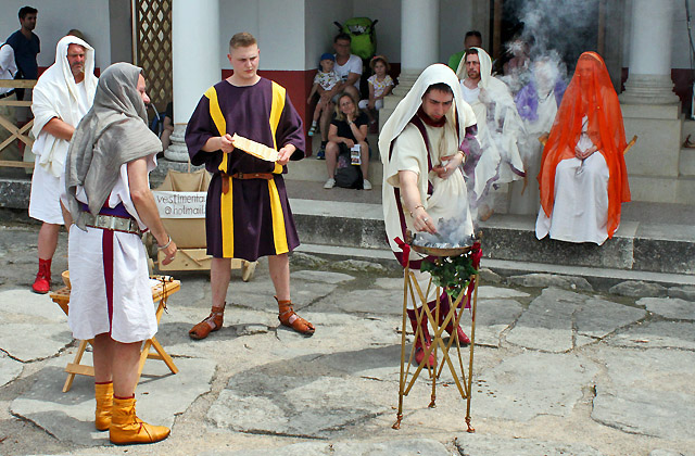 Hochzeitszeremonie - Römische Hochzeit, Römerfestival Carnuntum 2018