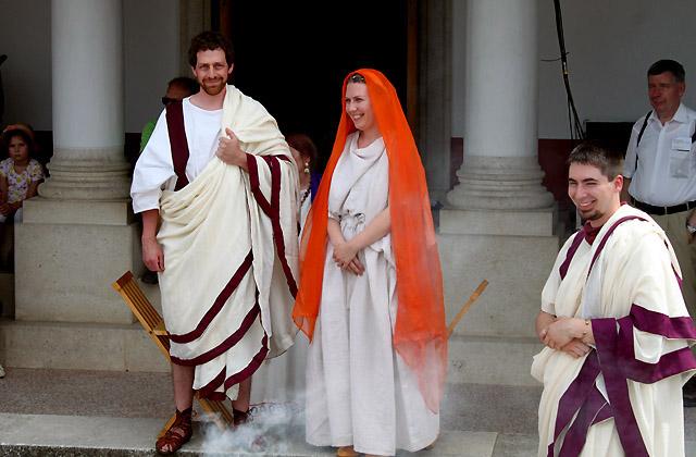 Römische Hochzeit - Brautpaar - Carnuntum, Römerfestival 2018
