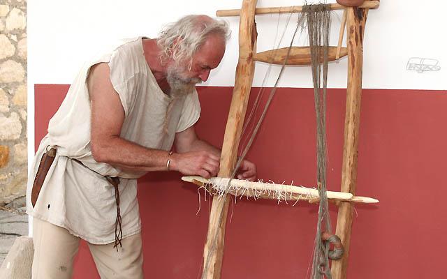 Ein Handwerker bei der Arbeit