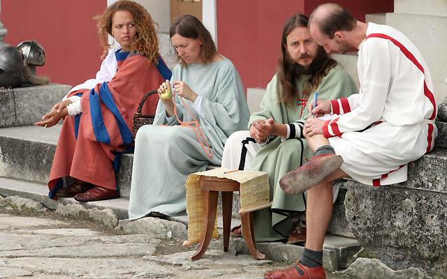 Szene aus dem römischen Stadtviertel