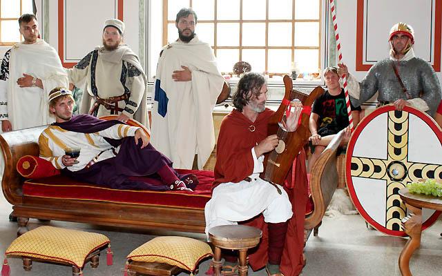 Zeremonie in der römischen Therme