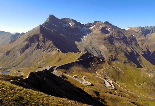 Panorama von der Edelweiss-Spitze über das Glocknermassiv