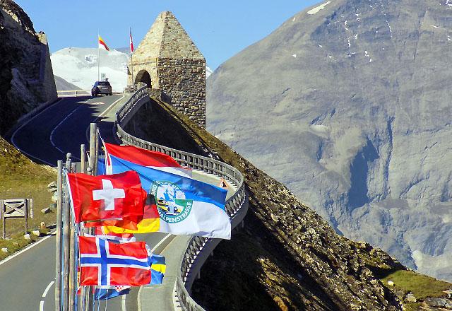 Europas wohl schönste Panoramastrasse: Die Grossglockner Hochalpenstrasse beim Fuscher Törl