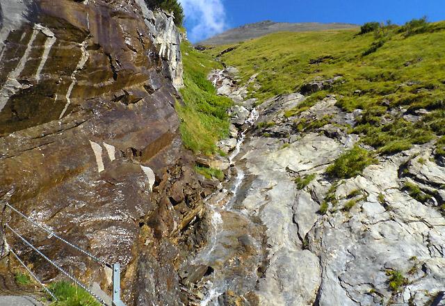 Glocknermassiv: Wasserfall am Weg zur Kaser Franz Josefs Höhe