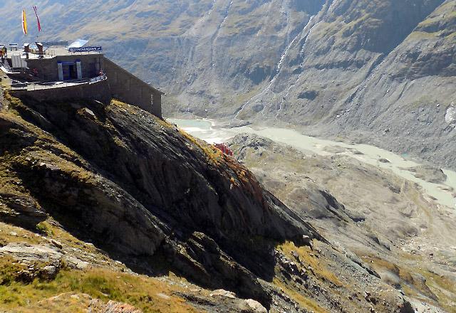 Kaiser-Franz-Josefs-Höhe: aussichtsplattform mit Gletscherbahn