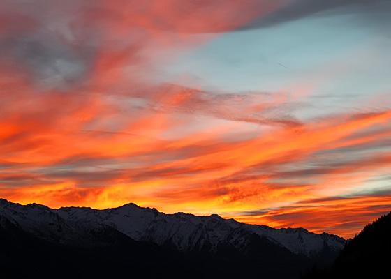 Pinzgau: Abendrot - Wolkenstimmung / Foto: Thomas Winkler