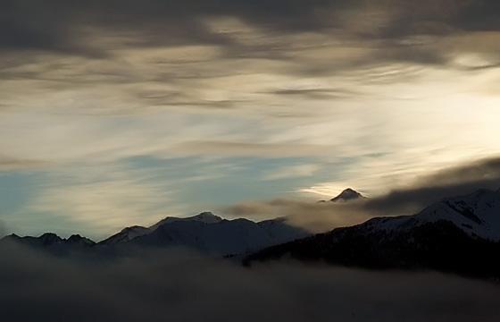Morgendämmerung über dem Pinzgau