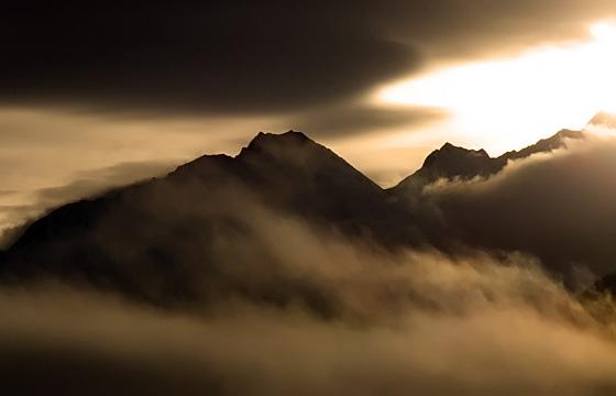 Hohe Tauern im Nebel
