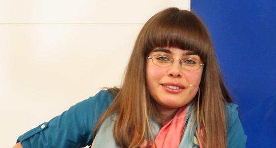 Theodora Bauer im Haus der Europäischen Union bei Europa : DIALOG