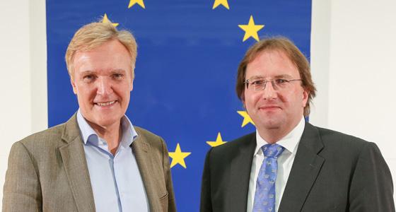 K.A. Schröder mit Benedikt Weingartner im Haus der EU - Wien