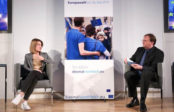 Claudia Gamin und Benedikt Weingartnern in Europa : DIALOG im Haus der EU, Wien