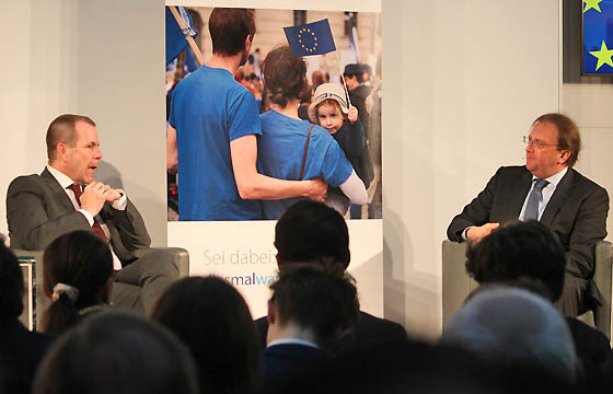 Harald Vilimsky und Benedikt Weingartner in Europa DIALOG
