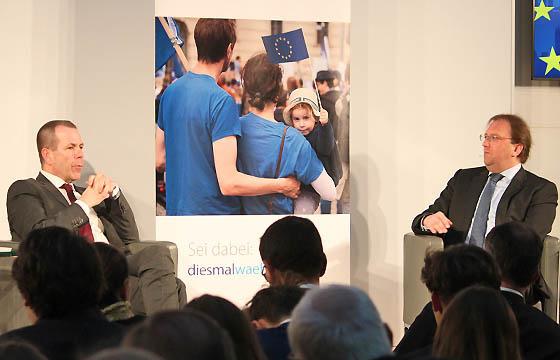 Harald Vilimsky bei Benedikt Weingartner in Europa : DIALOG