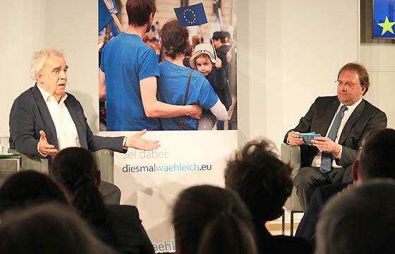 Johannes Voggenhuber und Benedikt Weingartner