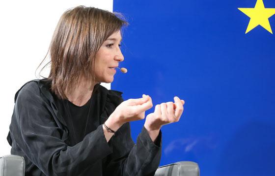 Carola Schneider im Haus der EU