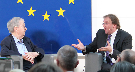 Ari Rath und Benedikt Weingartner in Europa : DIALOG im Haus der EU, Wien