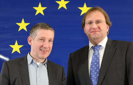 Wolfgang Böhm - Benedikt Weingartner im Haus der Europäischen Union, Wien