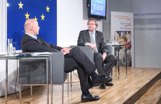 Christian Nusser und Benedikt Weingartner im Talk über Europa