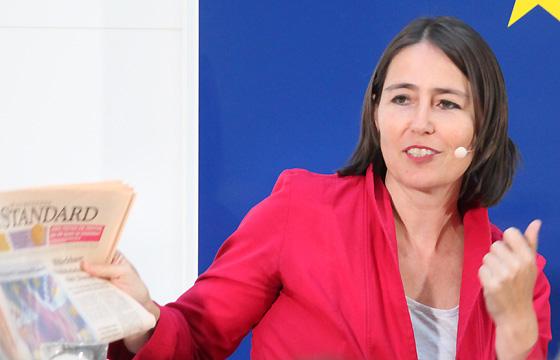 Alexandra Föderl-Schmid im Haus der EU