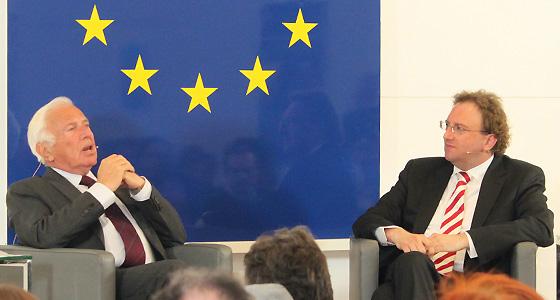 Ioan Holender & B. Weingartner im Haus der EU in Wien