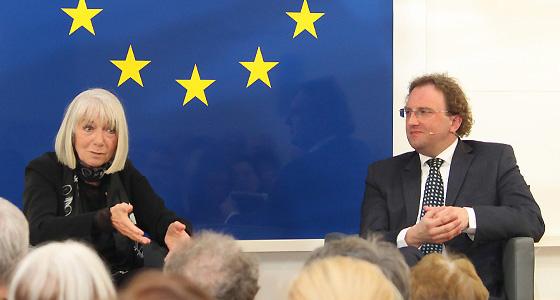 Erika Pluhar & B. Weingartner im Haus der EU - Kulturpolitik
