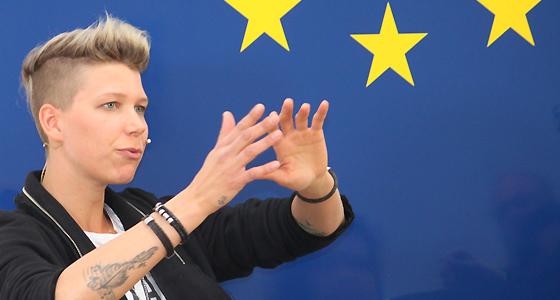 Virginia Ernst im Haus der Europischen Union