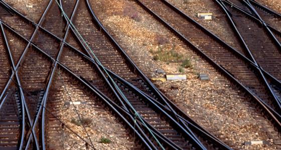 Eisenbahnschien - Symbolfoto
