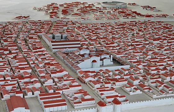 Römerstadt Carnuntum: Modell 1:300