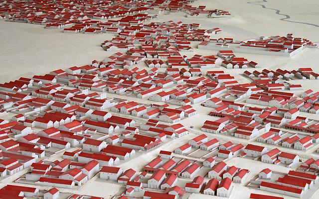 Modell der Römersiedlung