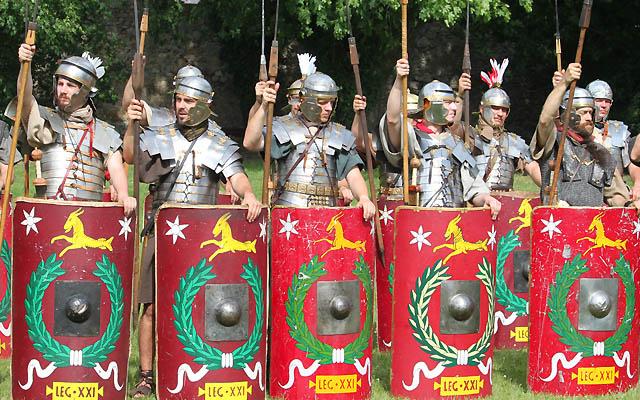 Soldaten in Reihe beim Appell