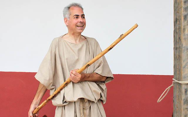 Ein römischer Händler mit seinem Stock