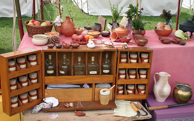 Warenpräsentation in der Antike - Mobiler Verkaufsstand