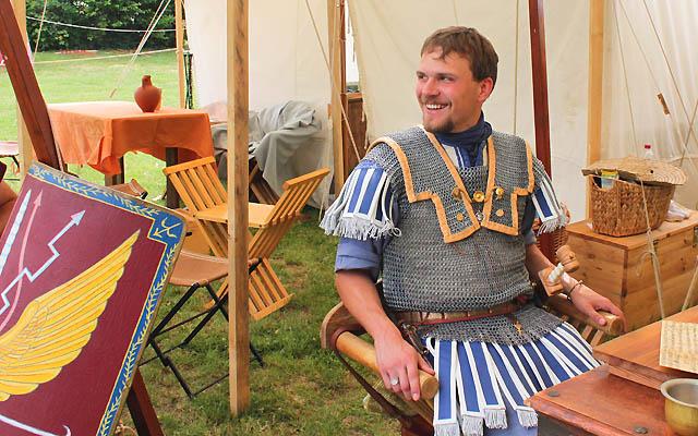 Legionär in seinem Zelt - Carnuntum - Römerfest