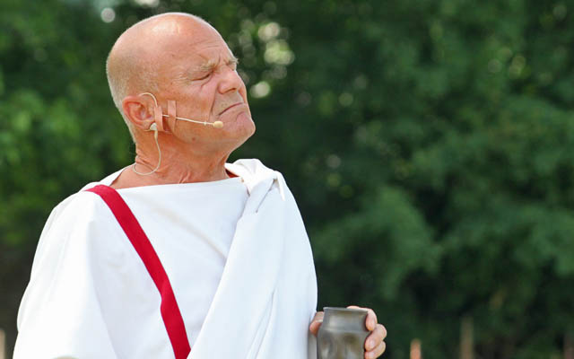 Johannes Seilern beim Römerfestival Carnuntum