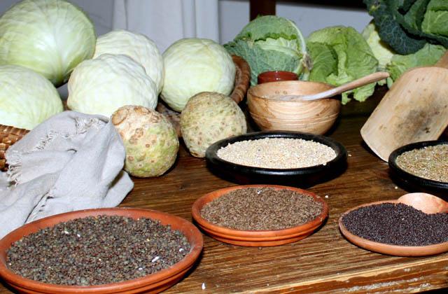 Obst, Gemüse, Hirse, Kohl, Hülsenfrüchte - Nahrungsmittel in der Antike