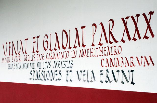 Römische Inschrift / Carnuntum