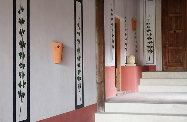Antike Lobby in der Römerstadt Carnuntum - Eingang zur Therme