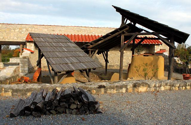 Römersiedlung Carnuntum - Antike Feuerstelle